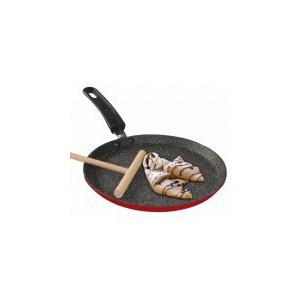 Pánev na palačinky s mramorovým povrchem 24 cm, rubínově červená